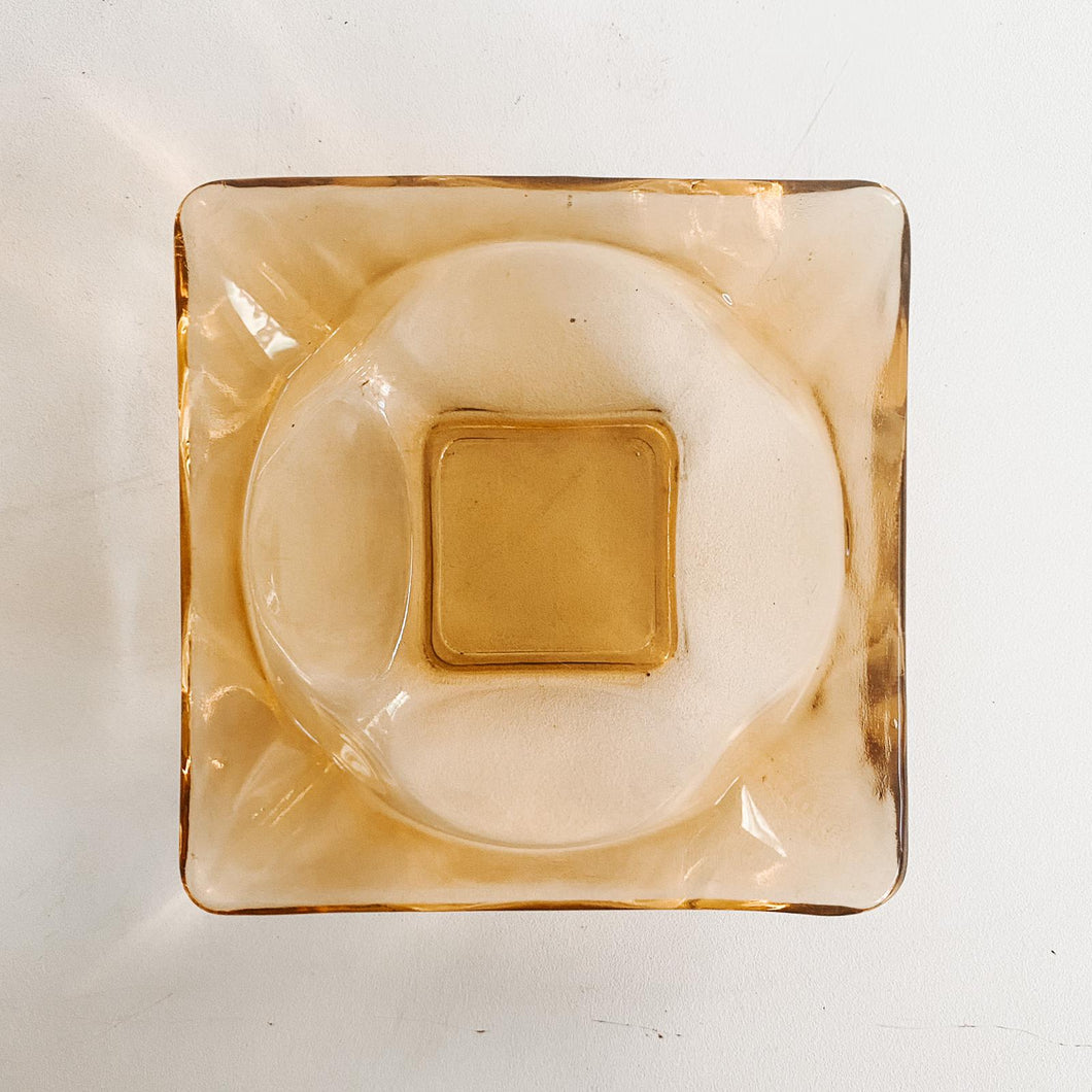 Small Amber Ashtray