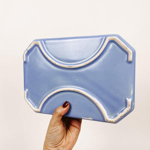 Mod Blue Ceramic USA Tray