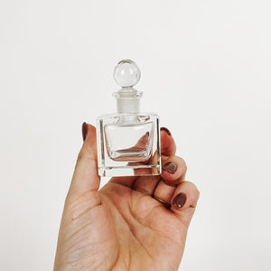 Small Square Glass Perfume Bottle