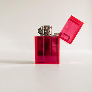 Hot Pink Hard Edge Refillable Lighter