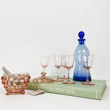 Load image into Gallery viewer, Set of 5 Pink Depression Glass Cordials