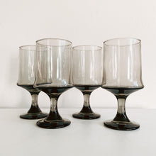 Load image into Gallery viewer, Set of 4 Smoked Goblets