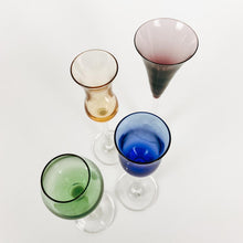 Load image into Gallery viewer, Set of 4 Multi Colored Long Stemmed Cordials