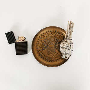 Brass Uncle Ji Ashtray