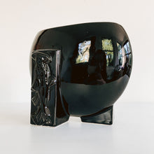 Load image into Gallery viewer, Black Ceramic Geisha Vase
