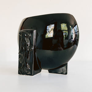 Black Ceramic Geisha Vase