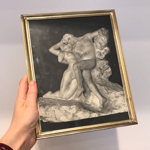Vintage Rodin Print and Art