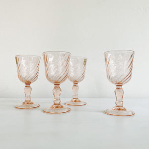 Set of 4 Luminarc Pink French Cordials