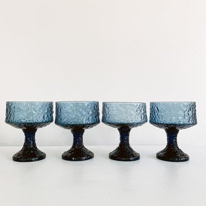 Set of 4 Lennox Crinkle Coupes