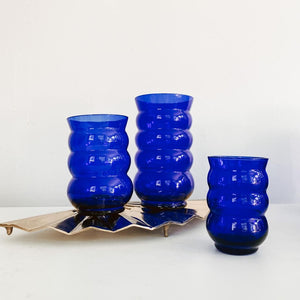 Set of 4 Blue Saturn Ring Cordials