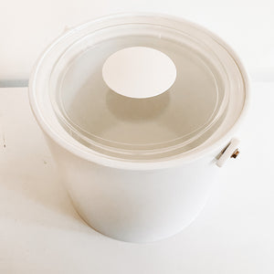 White Georges Briard Ice Bucket