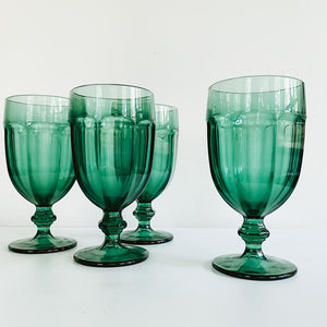Set of 4 Big Green Goblets