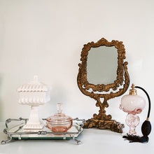 Load image into Gallery viewer, Silver Handled Mirror Vanity Tray