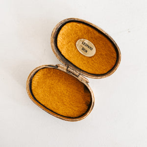 Floral Inlay Pill Box