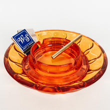 Load image into Gallery viewer, Large Bright Amber Ashtray