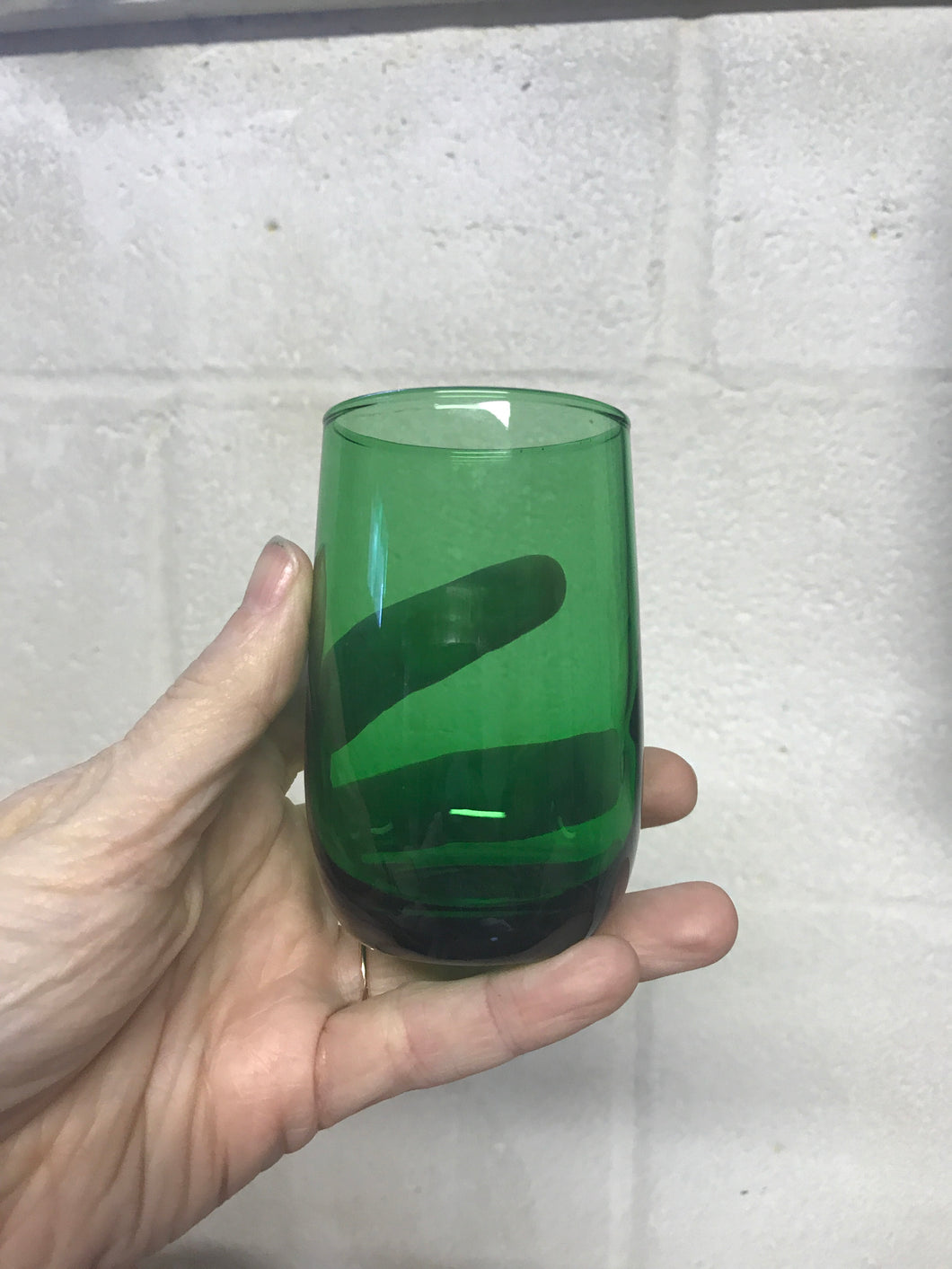 Set of 4 Green Juice Glasses