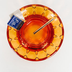 Large Bright Amber Ashtray