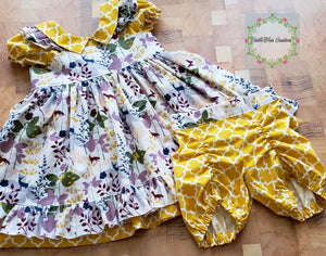 Vintage Woodland Life Dress Set