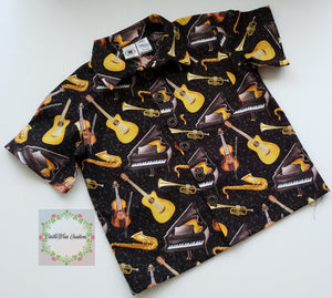 For the Love of Music Button Up Shirt