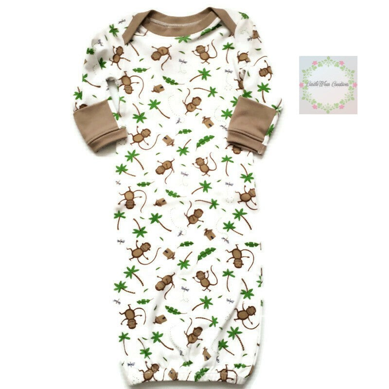 Monkeys & Jungle Huts Sleepgown