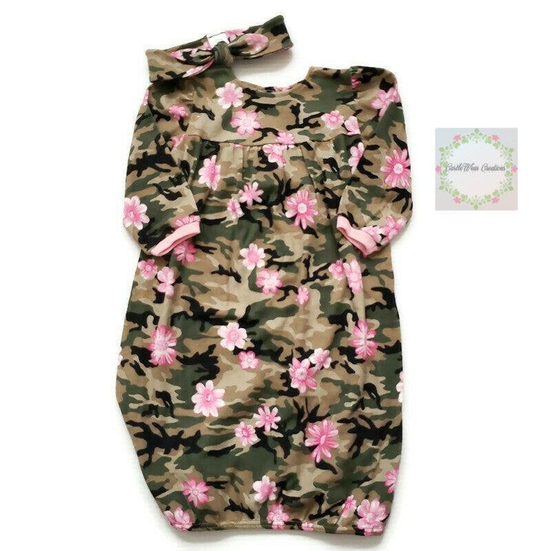 Pink Floral Camo Sleepgown