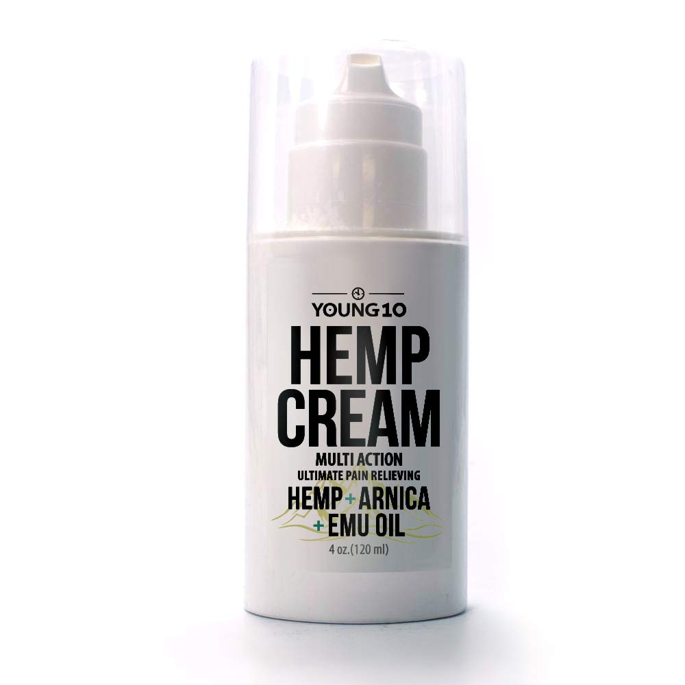 Young10 Hemp Cream + Arnica + Emu Oil For Muscle & Joint Pain | 40z.