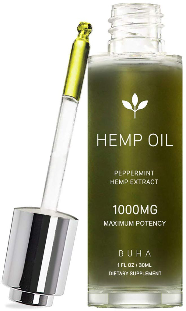Peppermint Flavored Hemp Oil for Pain & Anxiety Relief | 1000mg | 1oz.