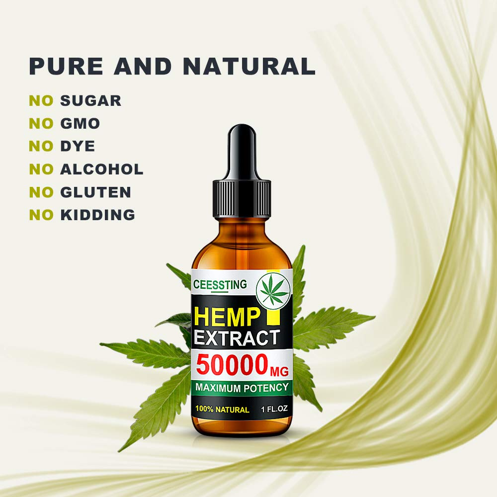 Envisha Hemp Oil for Pain & Stress Relief | 50000mg | Rich In Vitamins & Omegas