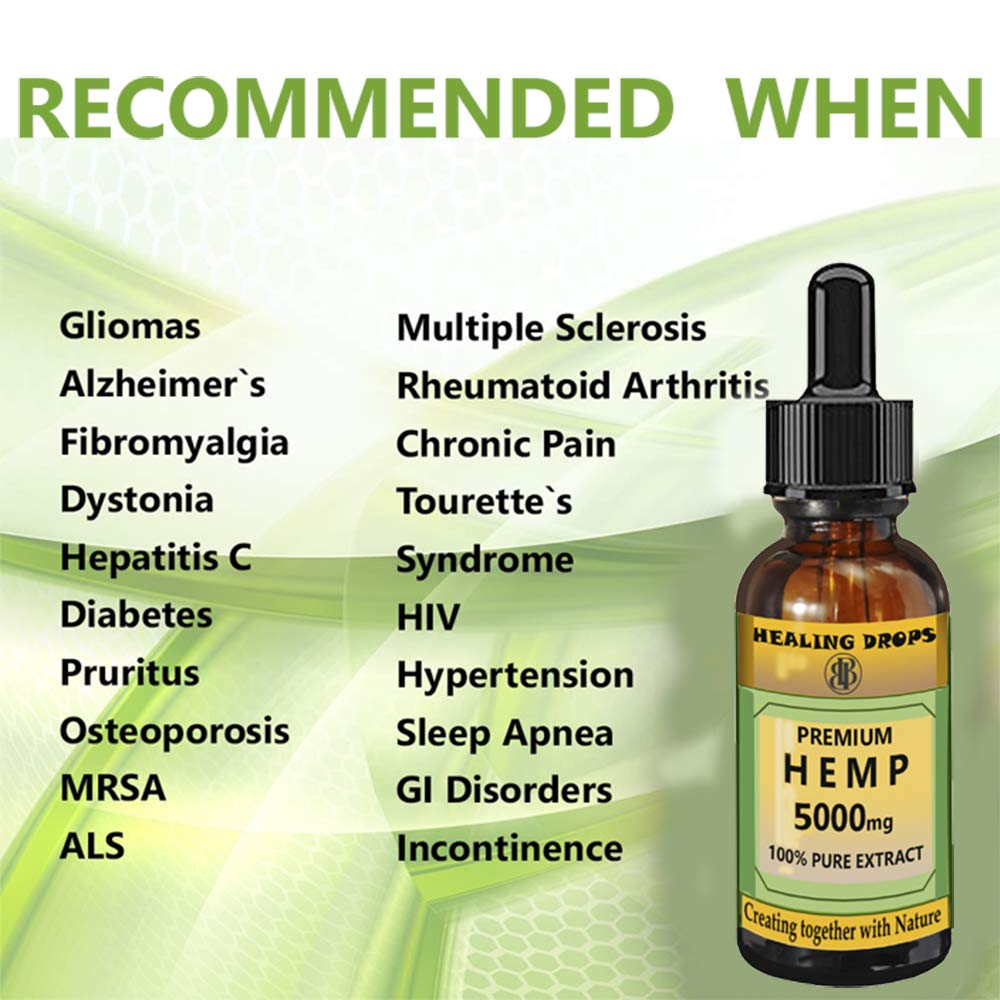 100% Natural Hemp Extract Oil Drops | 5000mg