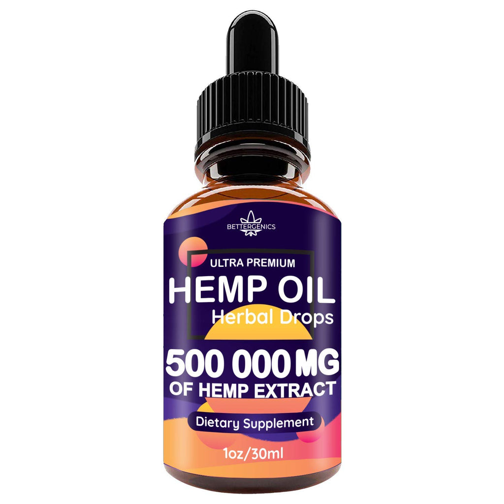 Hemp Oil Drops | 500000 mg | 1oz | CO2 Extracted