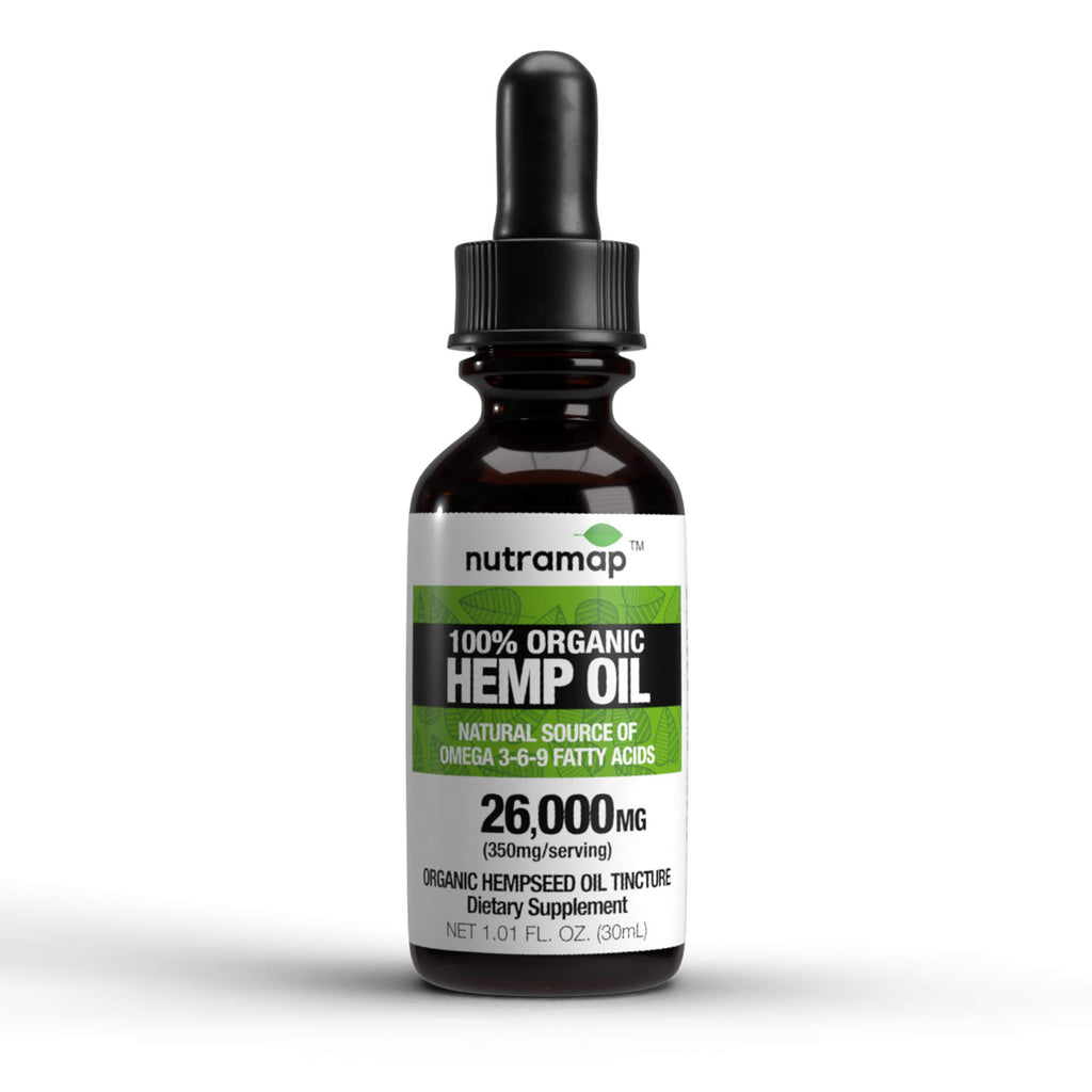 100% Organic Hemp Oil Tincture | 260,00MG | 75 Servings