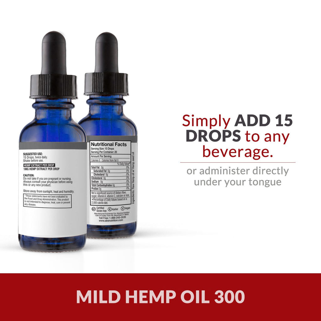 Mild Hemp Oil for Pain, Anxiety & Stress Relief | 300mg