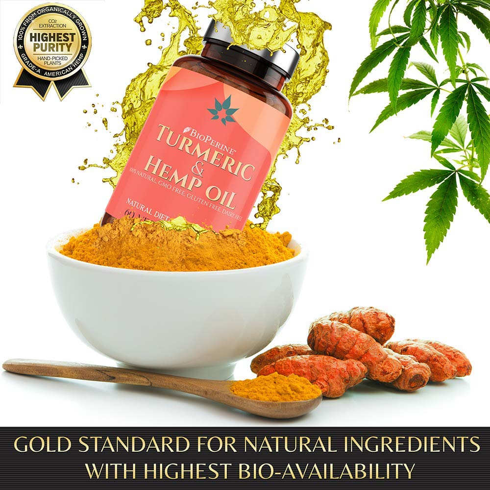 Super Health Hemp Oil Extract w/ Turmeric | 1500mg | 60ct.