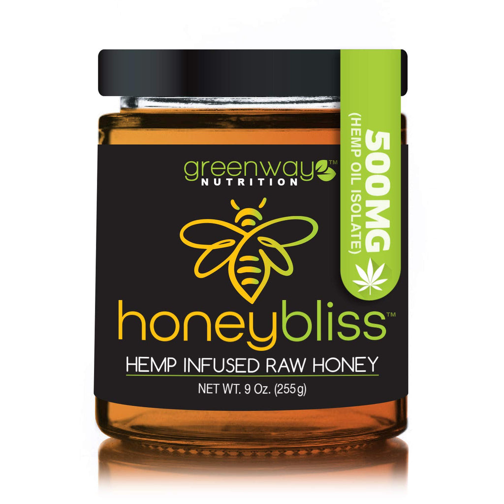 Honeybliss Raw Clover Honey w/ Hemp Extract | 500mg | 9oz