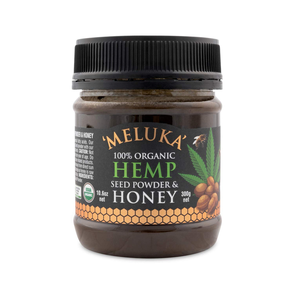 Meluka 100% Organic Raw Hemp Seed Honey 300g