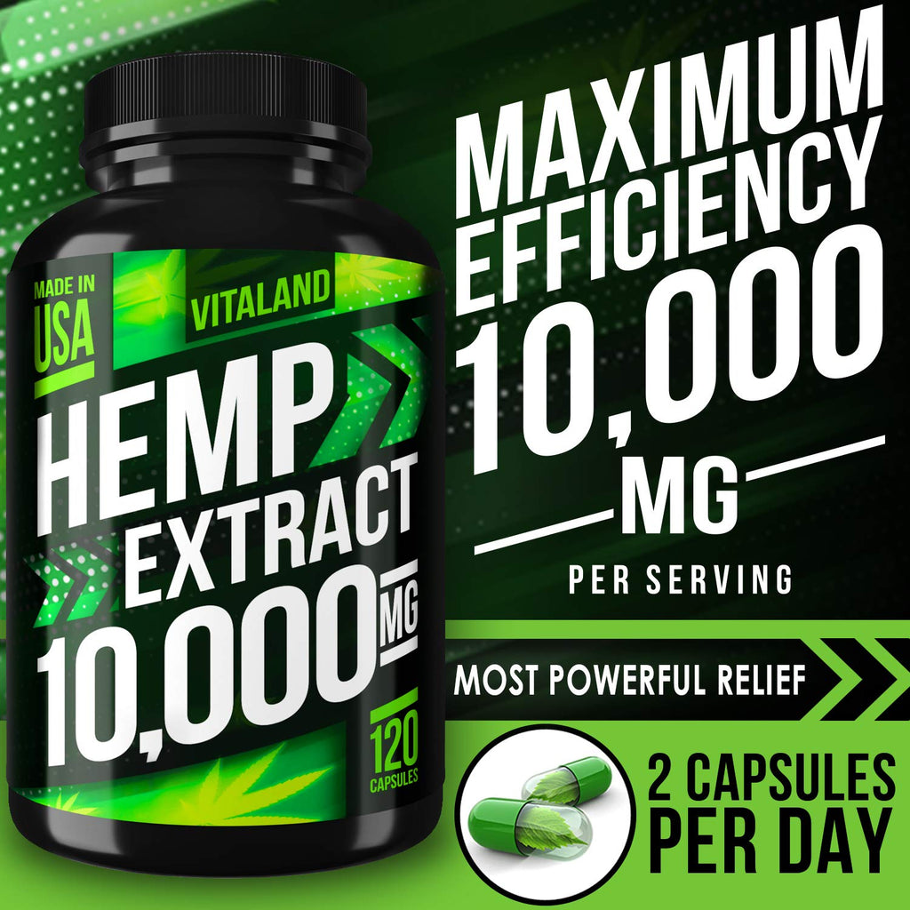 Hemp Extract Capsules | 10000MG |  83.3mg/capsule