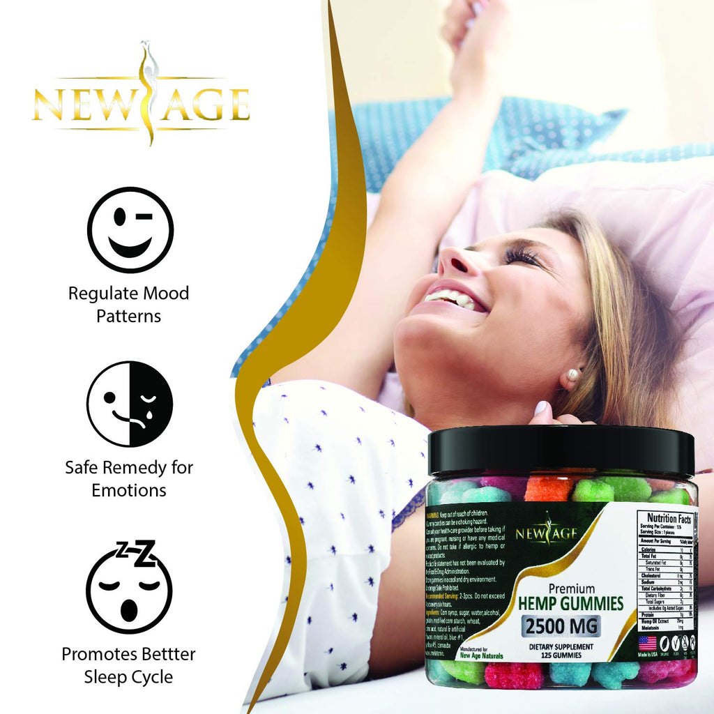 New Age Naturals Advanced Hemp Gummies | 2500mg | 125ct.