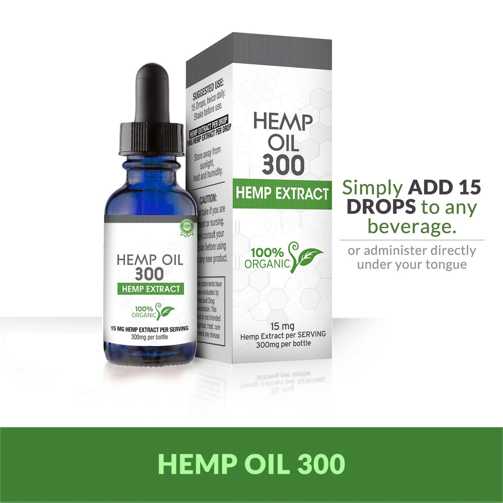 Vegan Hemp Oil for Pain, Anxiety & Stress Relief | 300mg