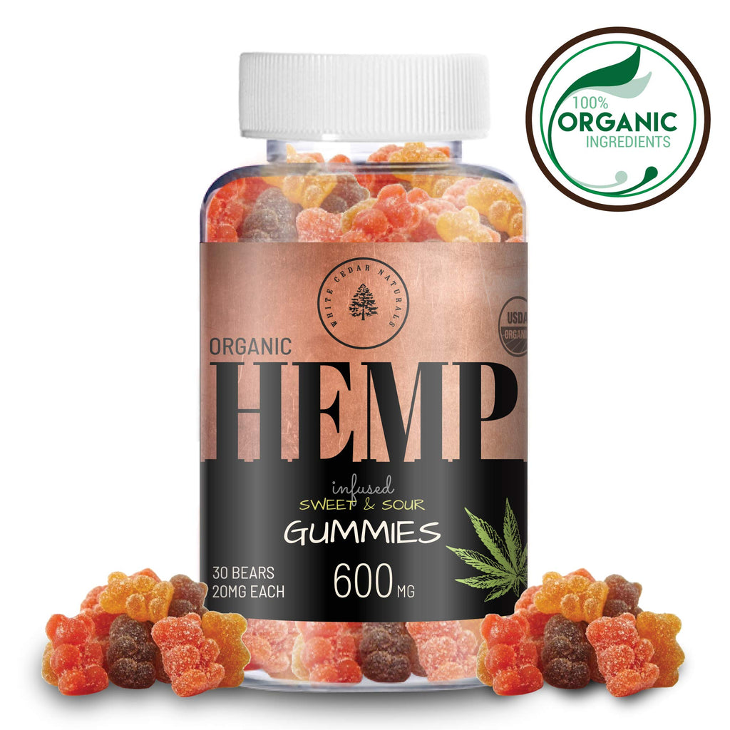 Organic, Vegan Hemp Oil Extract Gummies | 600mg | 30ct. |  Sweet & Sour Flavor