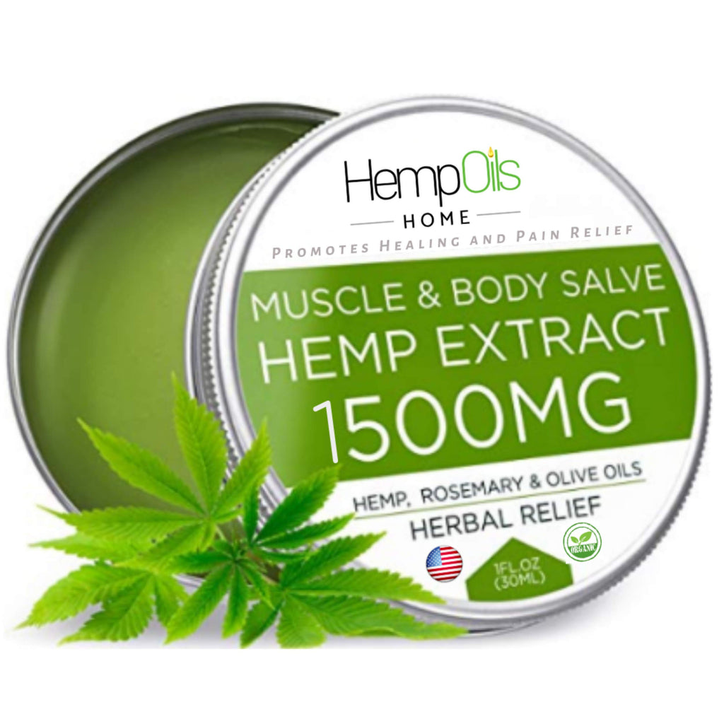 Natural Hemp Oil Salve for Pain Relief | 1500mg | 1oz.
