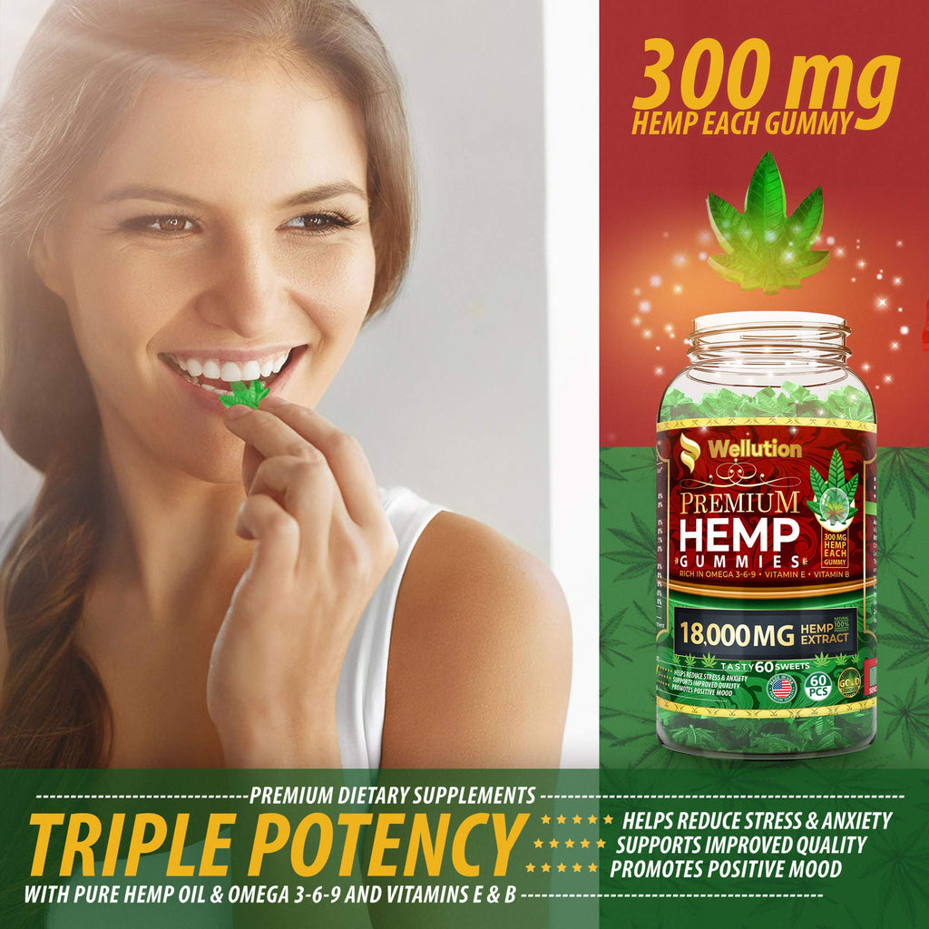 High Potency Premium Hemp Gummies | 18000mg | 60ct.