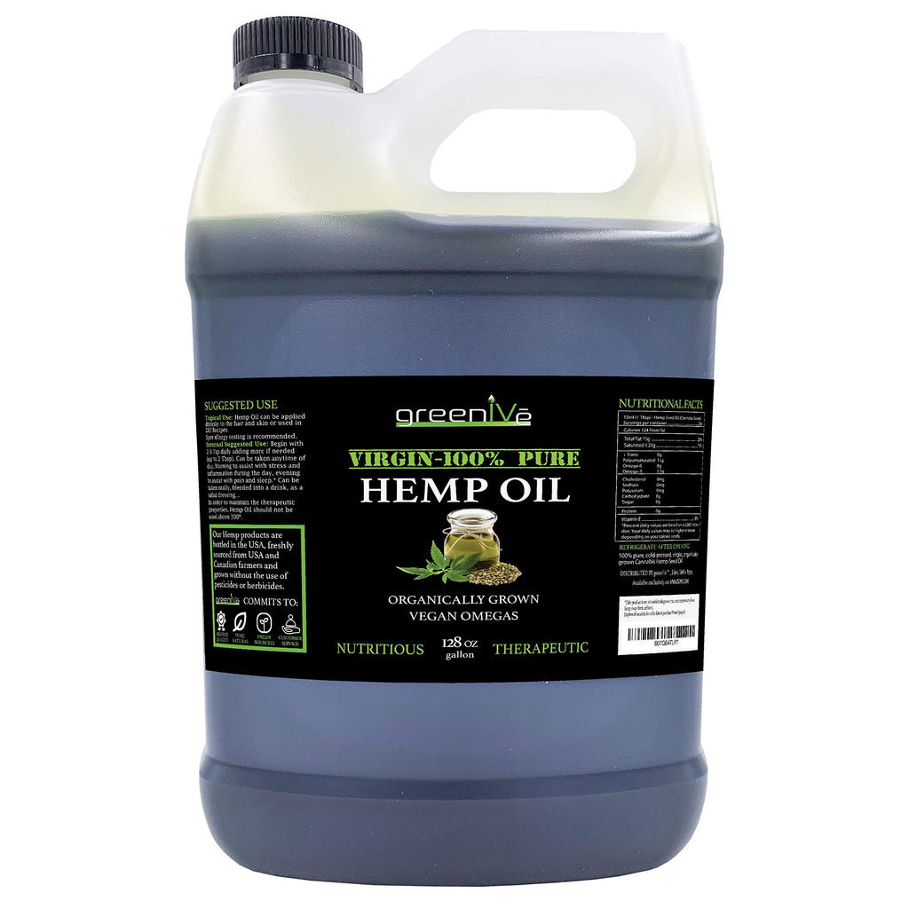 GreenIVe Hemp Oil w/ Vegan Omegas | 1 Gallon