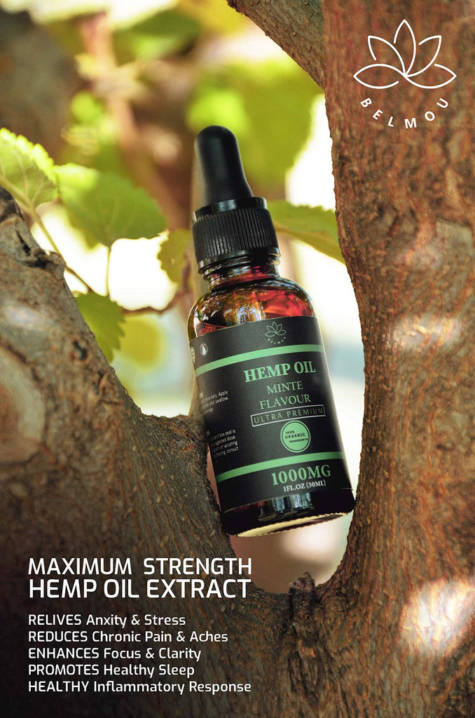 Belmou Organic Hemp Oil Extract | 1000mg