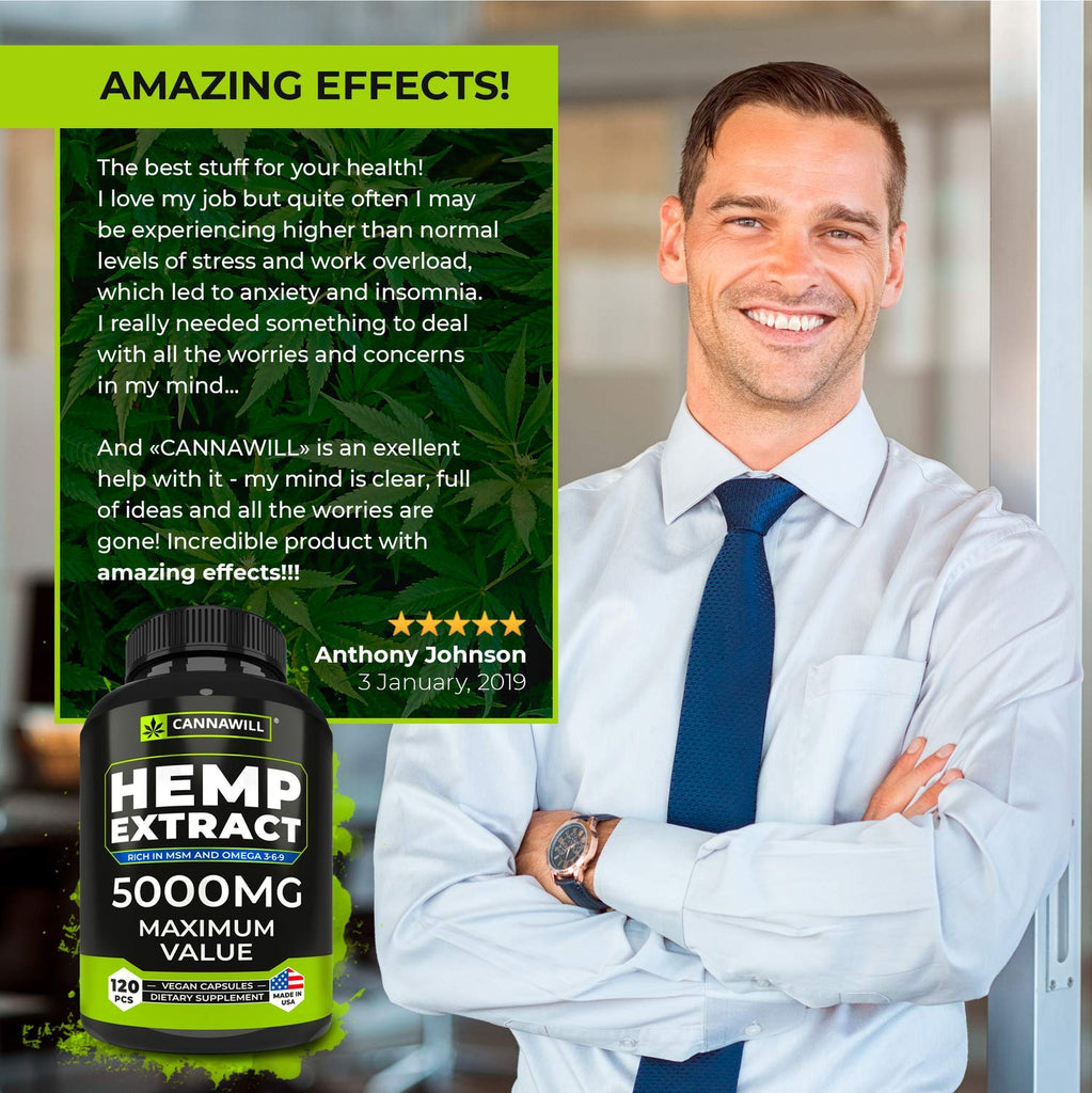 Maximum Value Hemp Oil Capsules | 5000MG | 120ct.