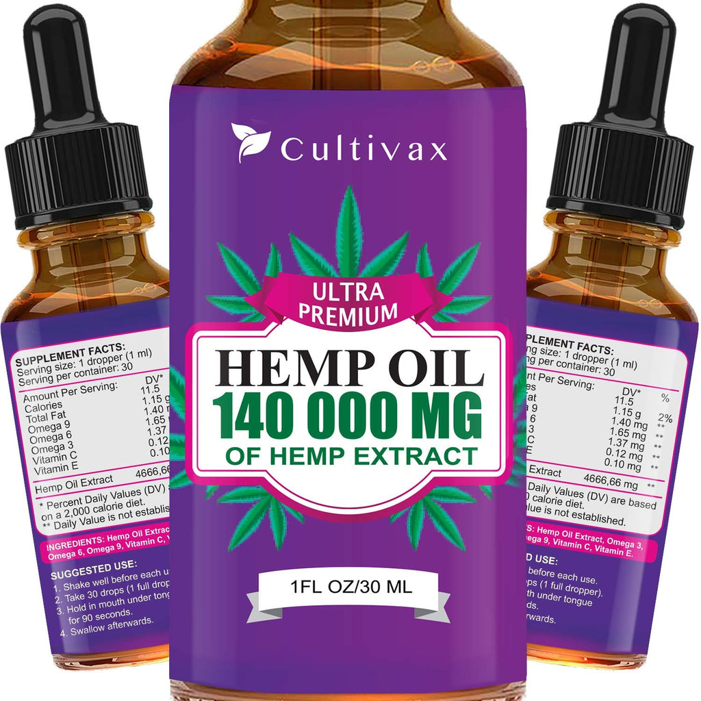 Vegan Friendly Hemp Oil | 140000mg | 1oz.
