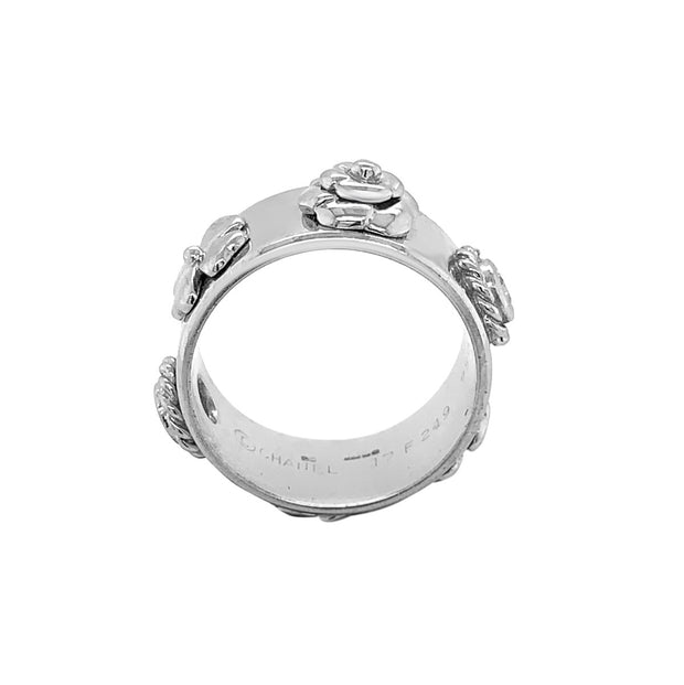 Chanel 18k White Gold Diamond Band Ring
