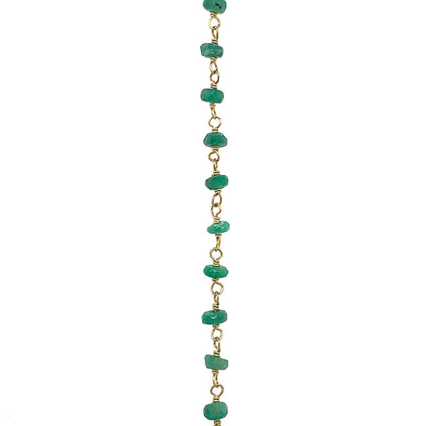 18K Yellow Gold Diamond Bead Necklace With Attachment