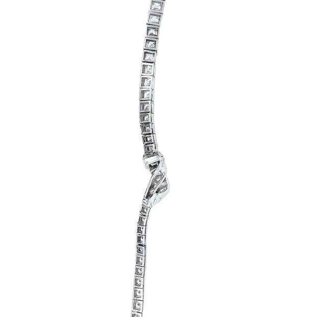 Oscar Heyman Art Deco Platinum Diamond Necklace