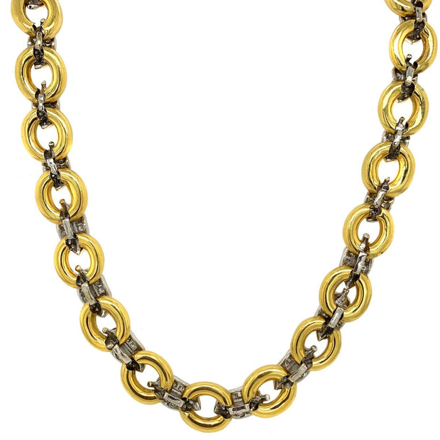 18k Yellow Gold Leaf Diamond Necklace