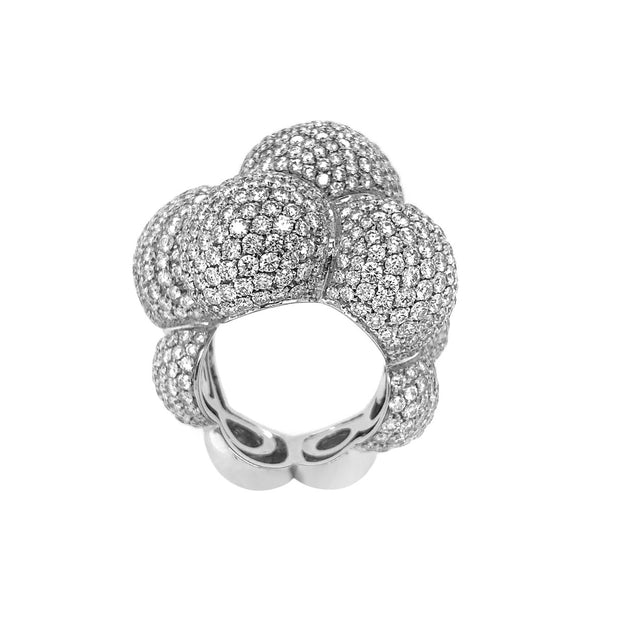 Marina B 18k White Gold Diamond Ring